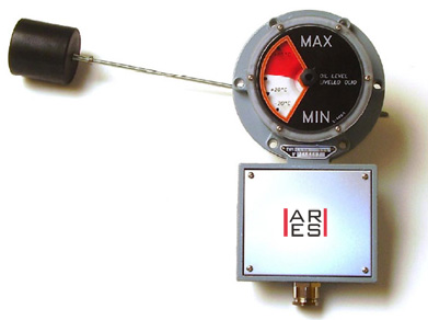 magnetic oil level indicator with electric contact